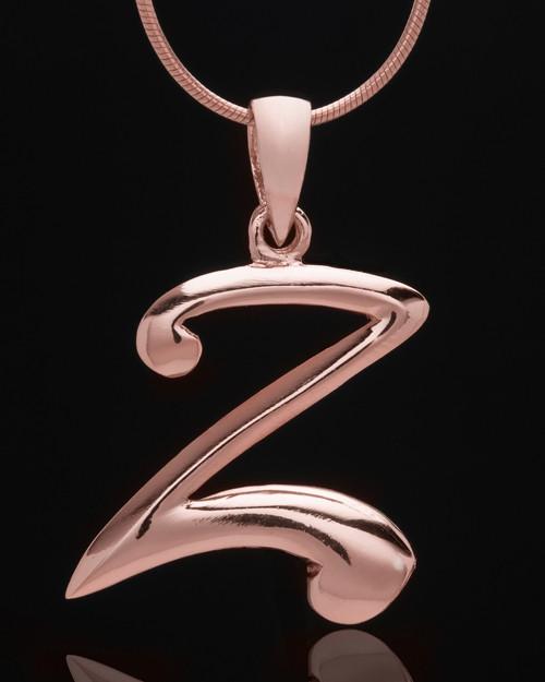 "Rose Gold Plated ""Z"" Keepsake Jewelry"