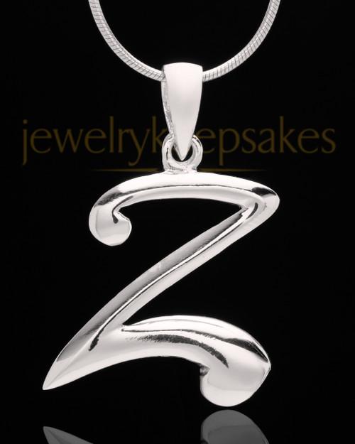 """Sterling Silver """"Z"""" Keepsake Jewelry"""