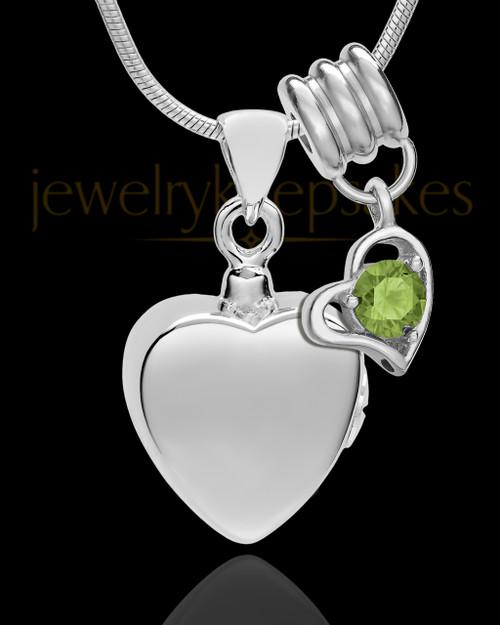 Sterling Silver Gentle Heart August Urn Pendant
