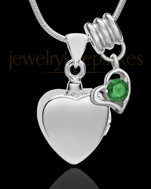 Sterling Silver Gentle Heart May Urn Pendant