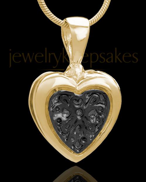 Gold Plated Lattice Heart Keepsake Jewelry