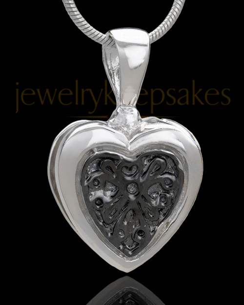 Silver Plated Lattice Heart Keepsake Jewelry