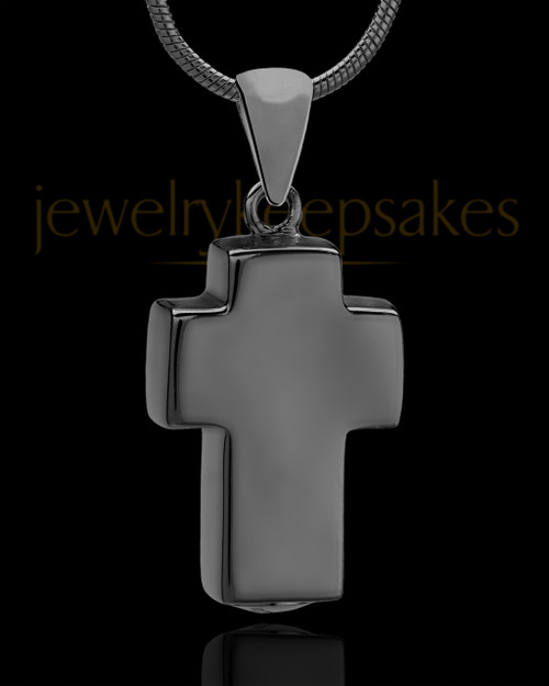 Black Plated Blessed Cross Keepsake Jewelry