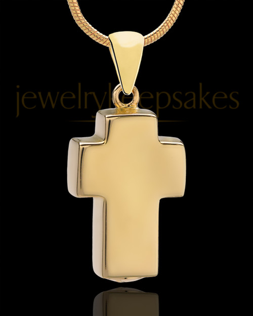 Gold Plated Blessed Cross Keepsake Jewelry