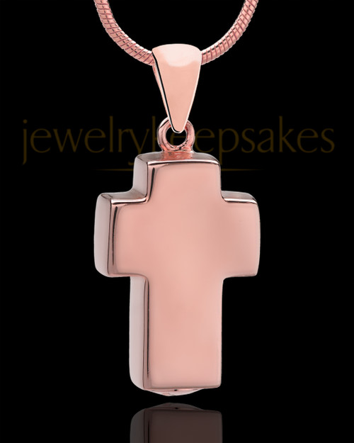 Rose Gold Plated Blessed Cross Keepsake Jewelry