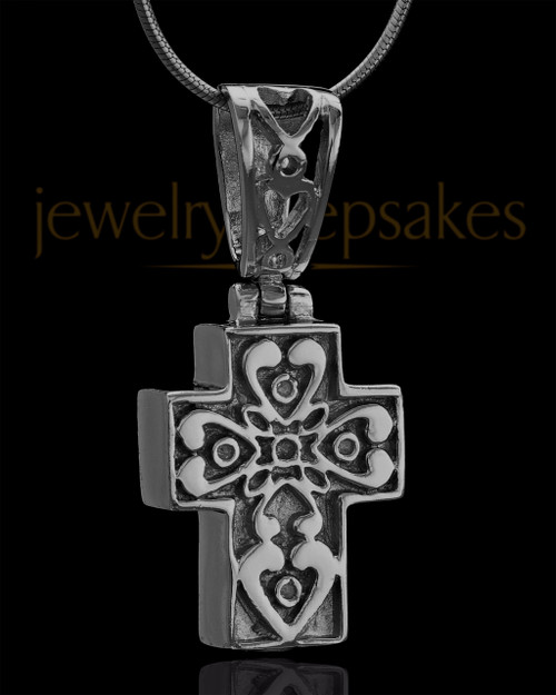 Black Plated Esteemed Cross Keepsake Jewelry