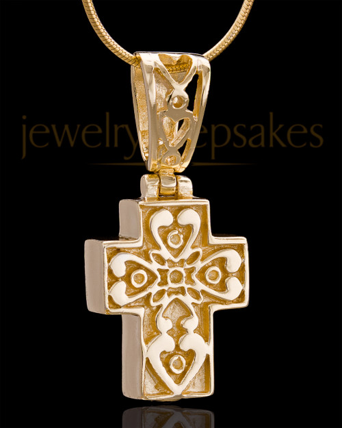 Gold Plated Esteemed Cross Keepsake Jewelry