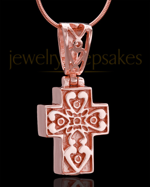 Rose Gold Plated Esteemed Cross Keepsake Jewelry