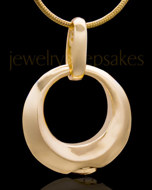 Gold Plated Endless Round Keepsake Jewelry