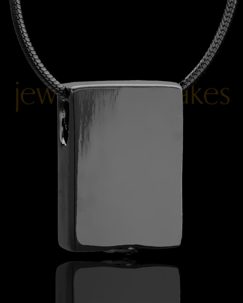Black Plated Natural Rectangle