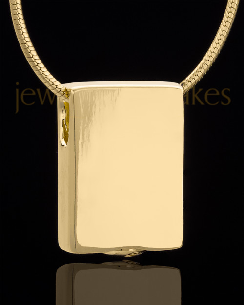 Gold Plated Natural Rectangle Keepsake Jewelry