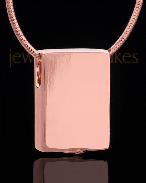 Rose Gold Plated Natural Rectangle Keepsake Jewelry