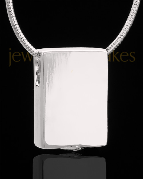 Sterling Silver Natural Rectangle Keepsake Jewelry