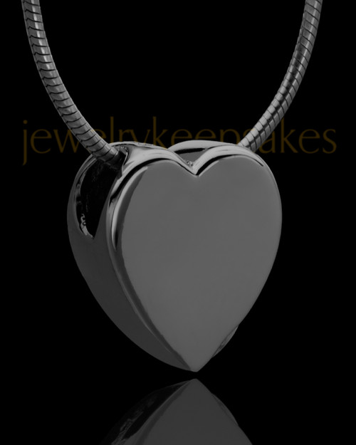 Black Plated Natural Heart Keepsake Jewelry