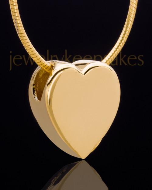 Gold Plated Natural Heart Keepsake Jewelry