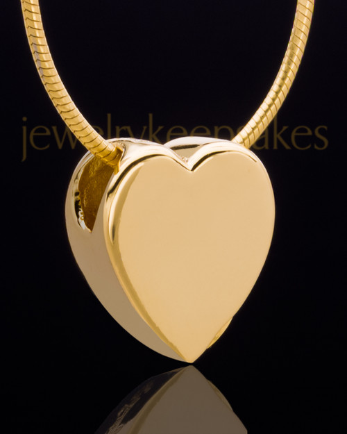 Gold Plated Natural Heart Keepsake Jewelry