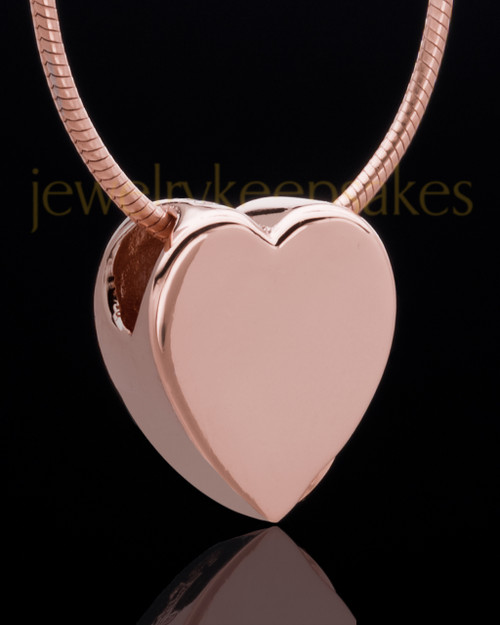 Rose Gold Plated Natural Heart Keepsake Jewelry