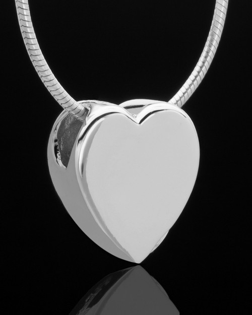 Sterling Silver Natural Heart Keepsake Jewelry