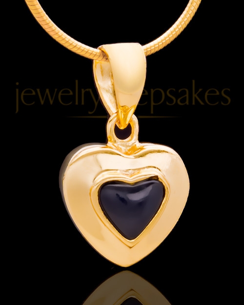 Gold Plated Evening Heart Keepsake Jewelry