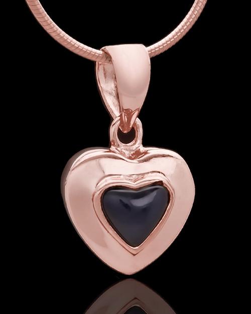 Rose Gold Plated Evening Heart Keepsake Jewelry