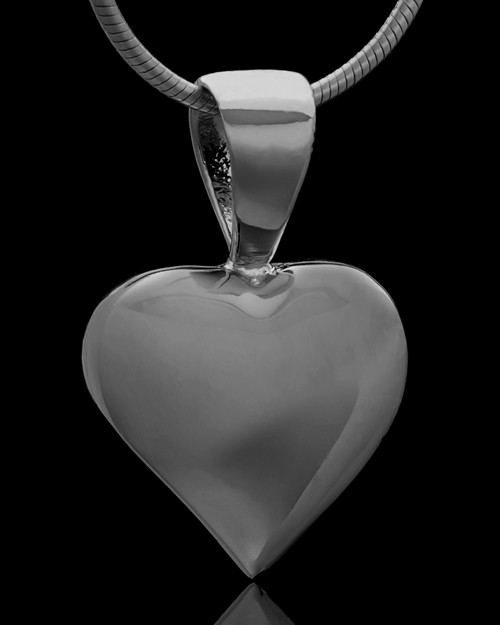 Black Plated Bursting Heart Keepsake Jewelry