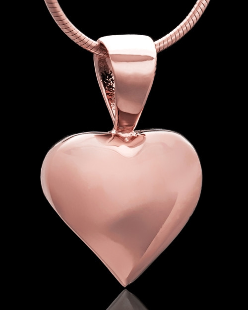 Rose Gold Plated Bursting Heart Keepsake Jewelry
