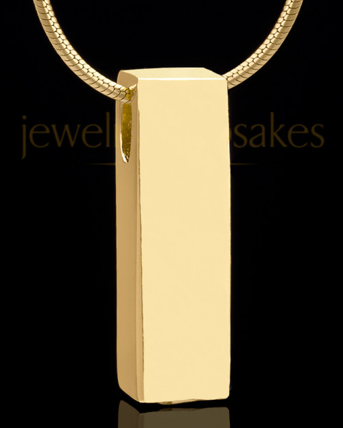 Gold Plated Classy Cylinder Keepsake Jewelry