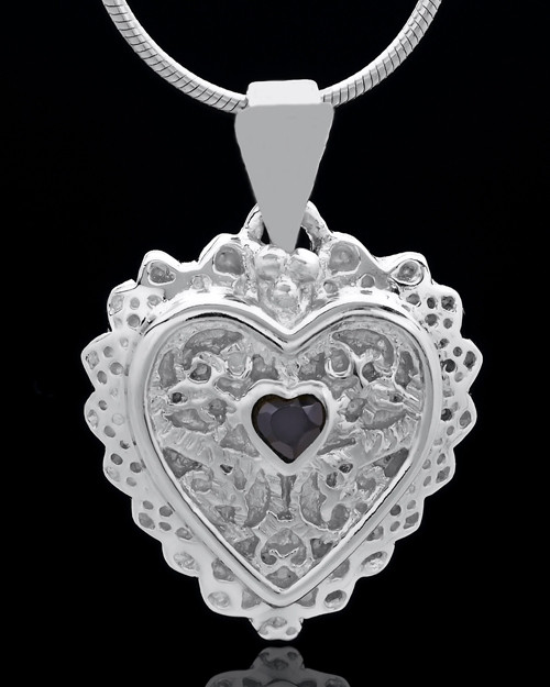 Sterling Silver Garland Heart Keepsake Jewelry
