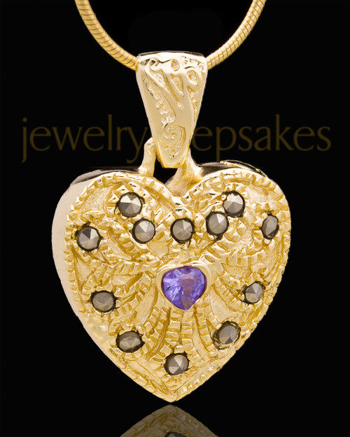 Gold Plated Noble Heart Keepsake Jewelry