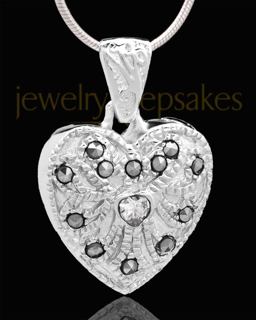 Sterling Silver Noble Heart Keepsake Jewelry