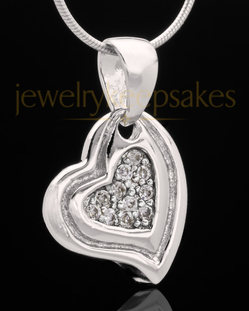 Sterling Silver Heart Trio Keepsake Jewelry
