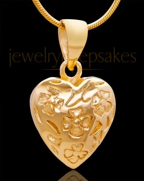 Gold Plated Spooled Heart Keepsake Jewelry
