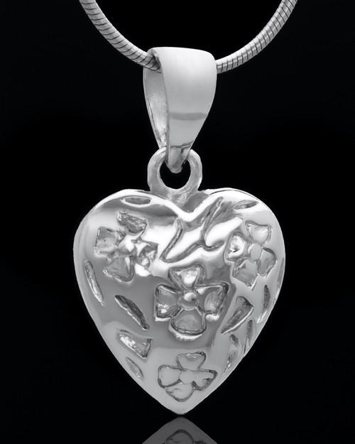 Sterling Silver Spooled Heart Keepsake Jewelry