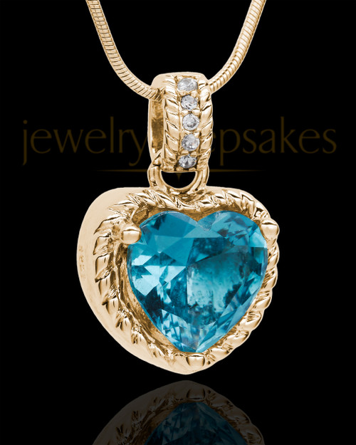 Gold Plated Seascape Heart Keepsake Jewelry