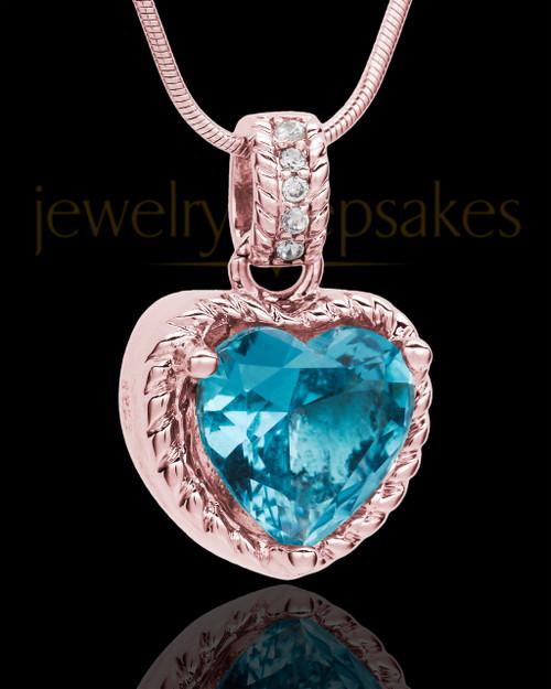 Rose Gold Plated Seascape Heart Keepsake Jewelry