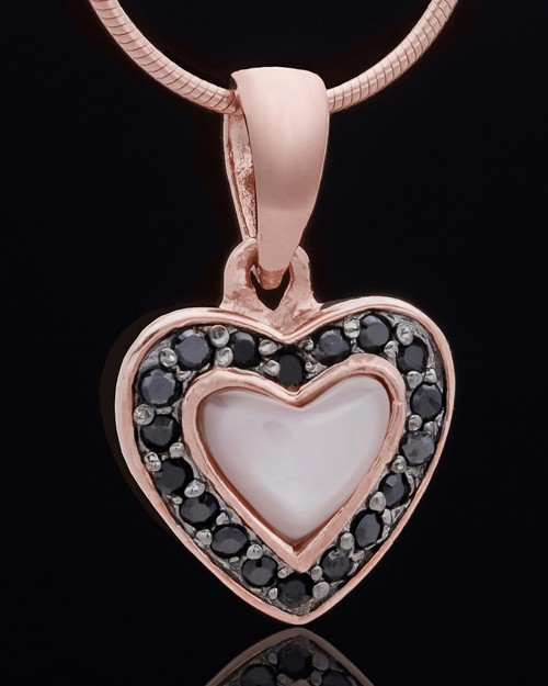Rose Gold Plated Sunset Heart Keepsake Jewelry
