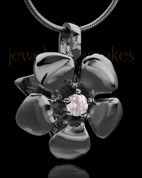 Black Plated Blooming Keepsake Jewelry