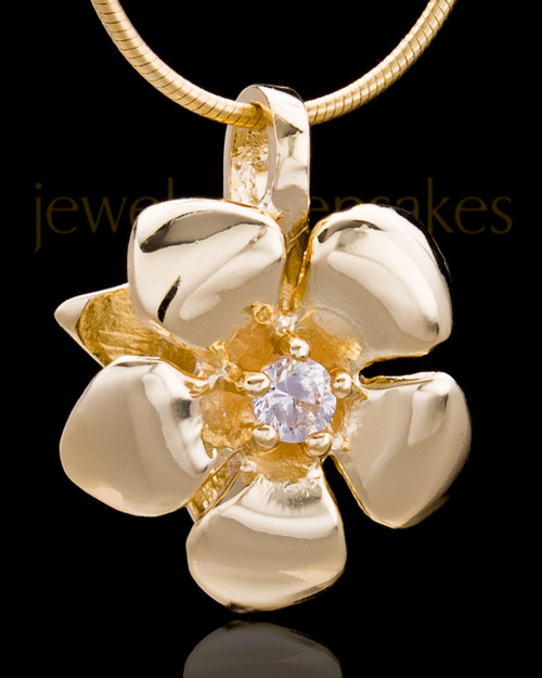 Gold Plated Blooming Keepsake Jewelry