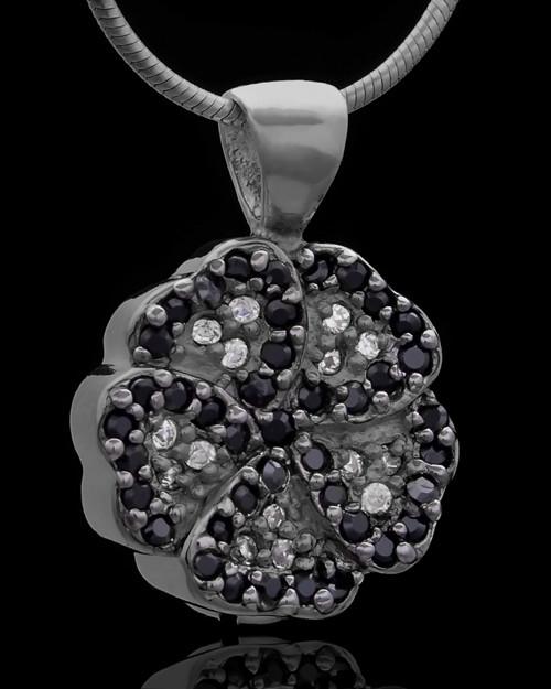 Black Plated Night Pansy Keepsake Jewelry