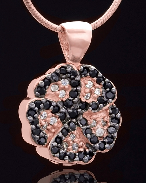 Rose Gold Plated Night Pansy Keepsake Jewelry