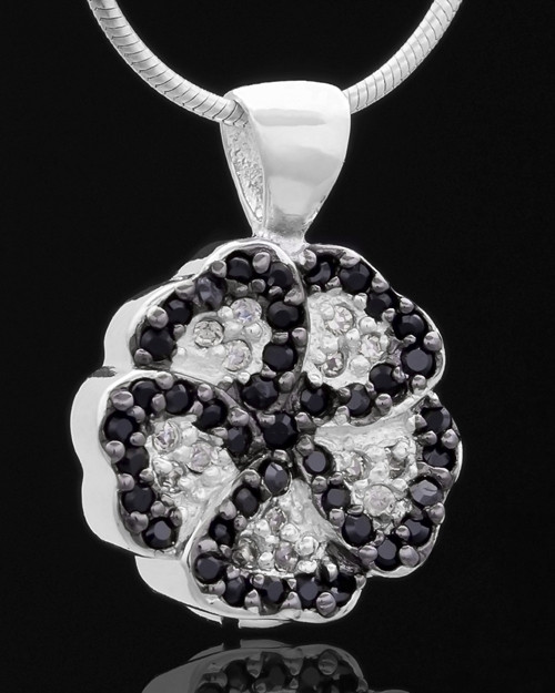 Silver Plated Night Pansy Keepsake Jewelry