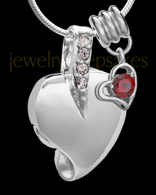 Sterling Silver January Weeping Heart Keepsake Jewelry
