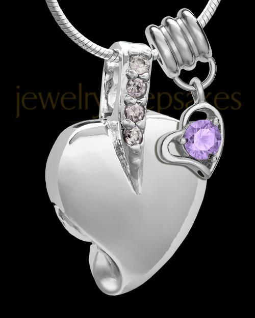 Sterling Silver June Weeping Heart Keepsake Jewelry