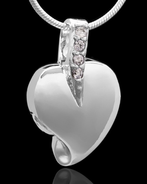 Sterling Silver Weeping Heart Keepsake Jewelry