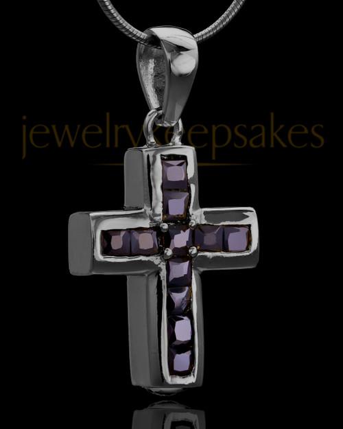 Black Plated Refined Cross Keepsake Jewelry