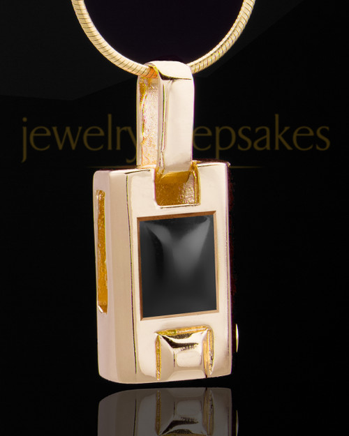 Gold Plated Noble Cylinder Keepsake Jewelry