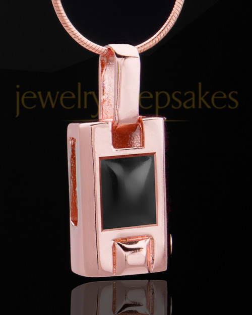 Rose Gold Plated Noble Cylinder Keepsake Jewelry