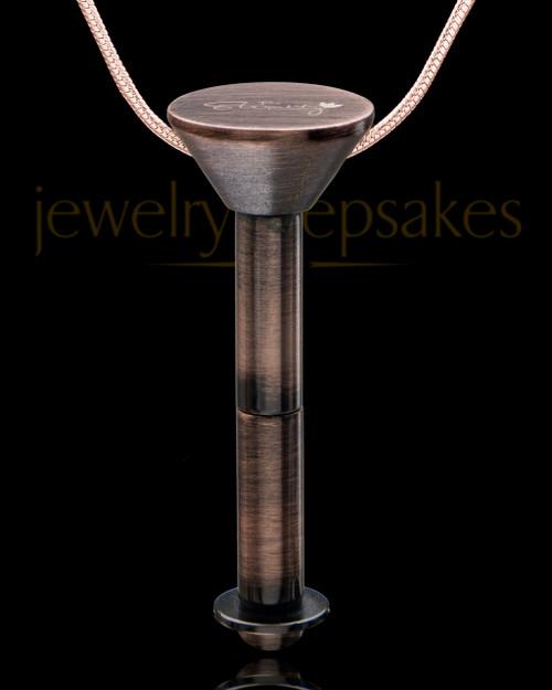 Antique Copper Stainless Millenium Cremation Pendant