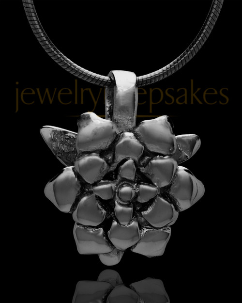 Black Plated Blossomed Keepsake Jewelry