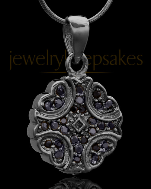 Black Plated Brilliance Keepsake Jewelry